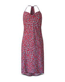 BCBGeneration - Leopard Cowlneck Racerback Dress