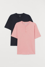 2-pack Henley Shirts