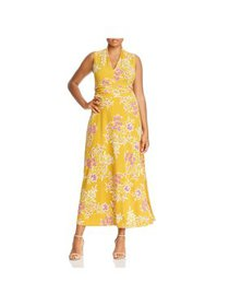 Vince Camuto Womens Plus Sleeveless Floral Maxi Dr