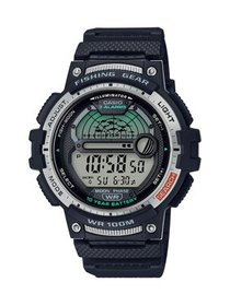 Casio Fishing Timer and Moon Graph Watch, Black