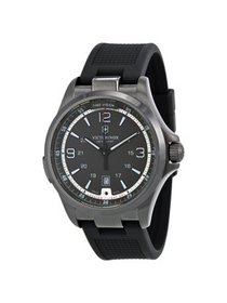 Night Vision GMT Black Dial Black Rubber Mens Watc