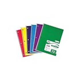Mead 1-Subject Notebook, 8 x 10.5, Wide Ruled, 70