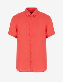 Armani REGULAR-FIT SHIRT WITH LOGO LETTERING