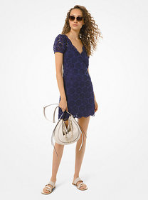 Michael Kors Embellished Broderie Anglaise Cotton