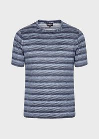 Armani Graduated weave silk and cotton T-shirt