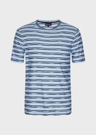 Armani Jersey T-shirt with embossed motif