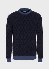 Armani Vanisé jacquard sweater with diamond shapes