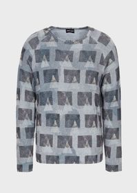 Armani Sweater with all-over graphic print