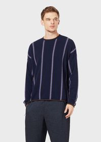 Armani Cashmere sweater with two-tone, vertical st