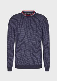 Armani Crew-neck sweater with graphic jacquard mot