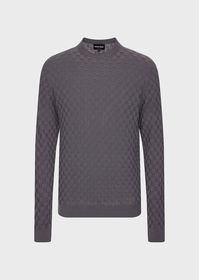 Armani Square-stitch cashmere sweater