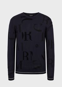 Armani Sweater with intarsia-knit lettering