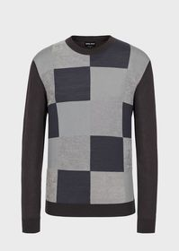 Armani Colour-block crew-neck sweater