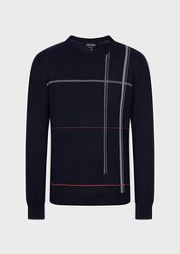 Armani Sweater with vertical chevron stripes