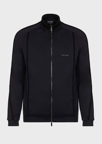 Armani Jersey blouson in double-thickness micromod