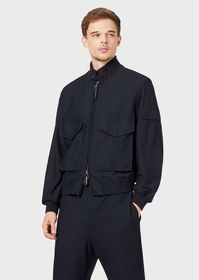 Armani Bomber in snag resistant embossed fabric