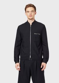 Armani Honeycomb stretch jersey blouson