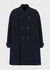 Armani Double-breasted trench coat in technical tw