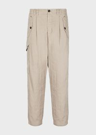 Armani Garment-dyed twill cargo trousers
