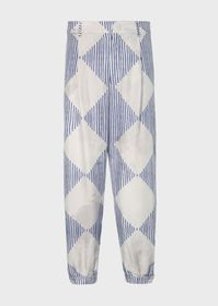 Armani Darted trousers in an abstract print fabric