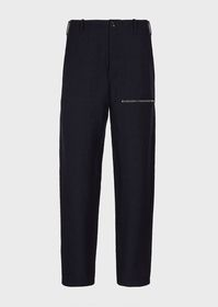 Armani Granular-crêpe, zipped trousers