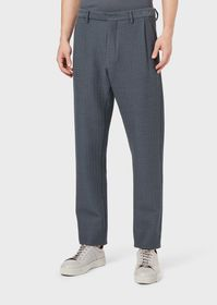 Armani Chevron-motif trousers