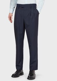 Armani Darted trousers in two-toned pinstripes