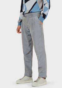 Armani Trousers with darts in iridescent poplin