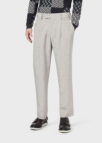 Armani Jacquard, darted trousers