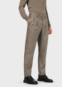 Armani Darted, pinstriped trousers