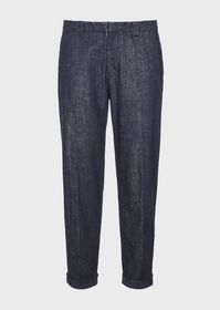 Armani Stretch comfort-denim trousers in cotton an