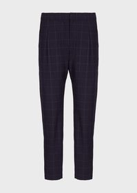 Armani Check seersucker trousers with darts