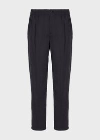 Armani Darted, silk-twill trousers
