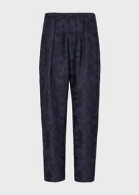 Armani Darted trousers in geometric jacquard