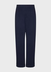 Armani Flowing, darted, cupro trousers