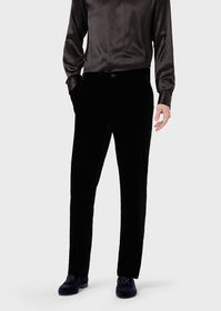 Armani Slim-fit velvet trousers