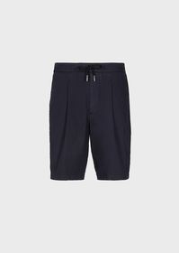 Armani Washed basketweave Bermuda shorts