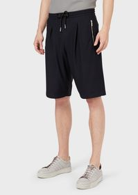 Armani Honeycomb stretch jersey Bermuda shorts