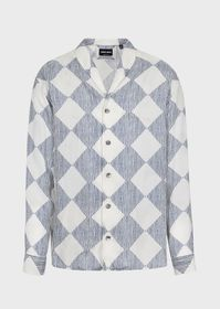 Armani Cupro shirt with graphic print