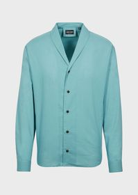 Armani Cotton shirt with shawl collar