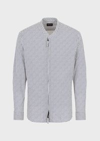 Armani Regular-fit shirt in exclusive printed fabr
