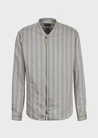 Armani Regular-fit shirt in striped fabric