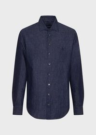 Armani Regular fit, linen-denim shirt