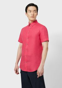 Armani Pure linen, short-sleeved shirt