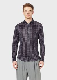 Armani Slim-fit shirt in exclusive patterned fabri