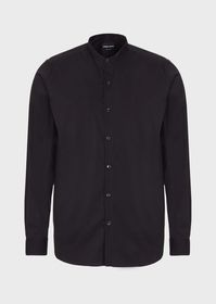 Armani Regular-fit, guru collar shirt in stretch f