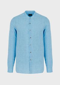 Armani Regular-fit shirt in pure linen with guru c
