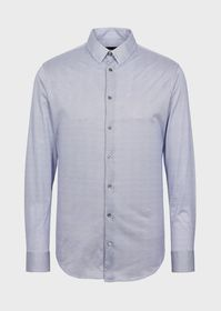 Armani Slim-fit shirt in printed micro-check jerse