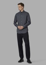 Armani Regular-fit stretch cotton shirt with small