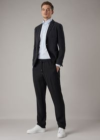 Armani Slim-fit shirt in striped fil-à-fil fabric